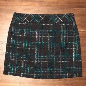 LOFT Tweed Plaid Skirt